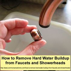 How to remove hard water build up from faucet and shower heads Deep Cleaning Tips, House Cleaning Tips, Spring Cleaning, Cleaning Hacks, Cleaning Solutions, Cleaning Products, Homemade Toilet Cleaner, Clean Baking Pans, Hard Water Stains