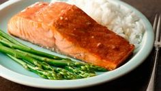 The simplest honey-soy recipe and then I just heat in the pan for a couple of minutes!! Grilled Salmon with Honey-Soy Marinade