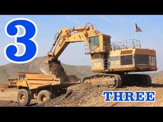 Excavators & Dump Trucks Teaching Numbers 1 to 10 - Learning to Count for Kids - YouTube