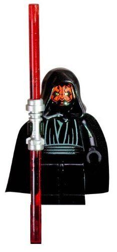 Amazon.com: Lego Star Wars Darth Maul Minifigure with Double-Sided Lightsaber: Toys & Games