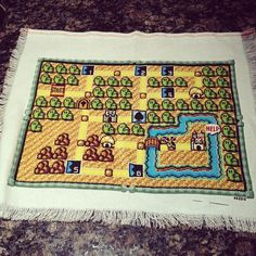 all that cross stitch and all I got was a lousy letter from the princess - Imgur