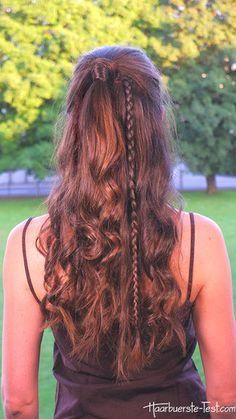 Halber Pferdeschwanz Braids For Long Hair, Trends, Dreadlocks, Long Hair Styles, Beauty, Quick Work Hairstyles, Half Ponytail, Yarn Braids, Cool Hairstyles