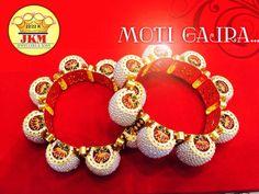 Moti Gajra with meena work ..http://jkmjewellers.com