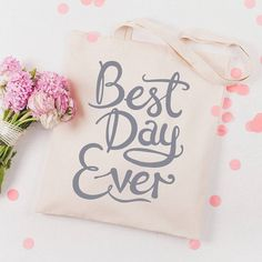 Wedding Stationery Inspiration: Best Day Ever via Oh So Beautiful Paper http://ohsobeautifulpaper.com/2014/03/wedding-stationery-inspiration-best-day-ever/  Tote Bag by Alphabet Bags #weddings