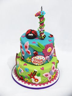 Garden Cake  Cake by MidnightSnacks