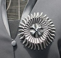 French Cockade. Hand Made Brooch.  by AnythingDiscovered on Etsy, $75.00