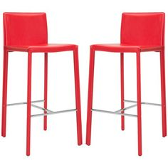 Jason Barstool Red Set Of 2 now featured on Fab.