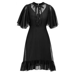 Summer Party Sexy Dresses Black Vintage Evening Women Gothic Lace See Through Retro Pleated Ruffle Elegant Office Casual Dress Cheap Dresses, Sexy Dresses, Vintage Dresses, Short Sleeve Dresses, Trendy Dresses, Short Sleeves, Long Sleeve Mini Dress, Black Midi Dress, Summer Dresses For Women