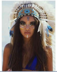 real tribal indian face paint for halloween - Google Search