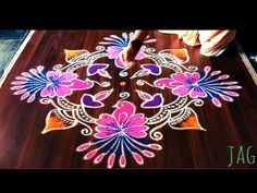 Easy cute parrot rangoli design with 9 dots made easy to draw for ugadi festival Rangoli Designs Latest, Rangoli Designs With Dots, Rangoli Designs Images, Beautiful Rangoli Designs, Lotus Rangoli, Diwali Rangoli, Flower Rangoli, Easy Rangoli, Simple Rangoli With Dots