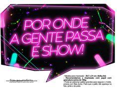 Plaquinhas divertidas Neon para Meninas 5