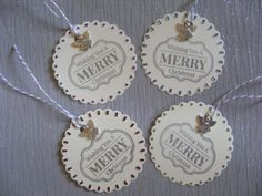Christmas gift tags x4 Merry christmas by SophiesHouseofCrafts