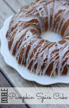Pumpkin Spice Cake with a Pumpkin Spice Glaze #loveyourcup (sponsored but still delicious)