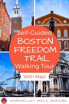 Self-Guided Boston Freedom Trail Walking Tour - Wanderlust While Working - Rafaelita Willets Boston Walking Tour, Boston Tour, Boston Vacation, Boston Shopping, Vacation Club, Boston Travel Guide, America Independence, East Coast Travel, New England Travel