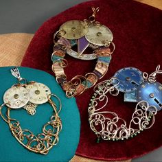 Steampunk Owl Necklaces