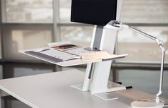 Humanscale QuickStand Light #DeskMount  Elevate your #workstation to a comfortable height!