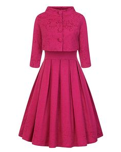 Vintage Dresses Marianne Raspberry Swing Dress and Jacket Twin Set 1950s Fashion Dresses, 1960s Dresses, Vintage Dresses, Vintage Outfits, Girly Outfits, Dress Outfits, Fashion Outfits, Fashion Trends, Vintage Inspired Fashion