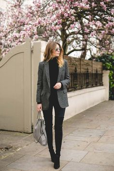 Office Style // Black and grey.                                                                                                                                                                                 More