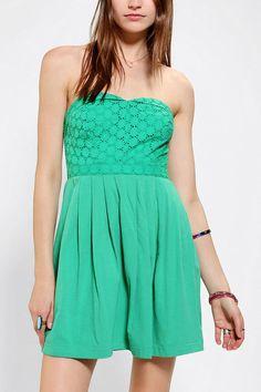 Kimchi Blue Eyelet Bodice Strapless Dress #urbanoutfitters