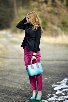 Style Inspiration: Burst in colours - business casual