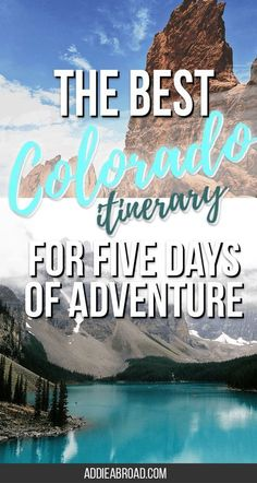 Want to have the best time ever with only a limited amount of time in Colorado? Check out this five day Colorado Itinerary for ultimate adventure in the Denver area. Go hiking in Rocky Mountain National Park, Visit Boulder, See the Garden of the Gods, Vis Breckenridge Colorado, Aspen Colorado, Estes Park Colorado, Road Trip To Colorado, Visit Colorado, Idaho Springs Colorado, Colorado Mountains, Boulder Colorado, Colorado National Parks
