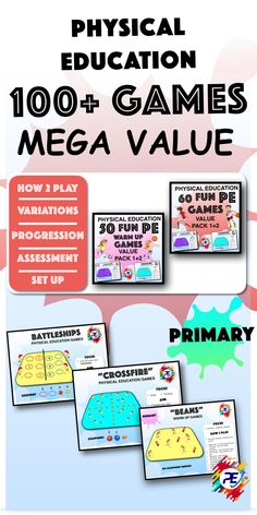 Fantastic amazing fun and interactive games designed for elementary PE Teachers Physical Education Lesson Plans, Elementary Physical Education, Elementary Pe, Movement Activities, Physical Activities, Motor Activities, Warm Up Games, Fun Games For Kids, Math Software