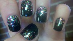 My nails. 12/1/11. Sally Hanson Black and Ulta Pinada-yada-yada.