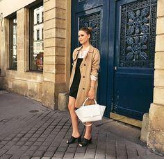 Image via We Heart It #celebs #fashion #model #outfit #paris #style #tumblr #kristinabazan