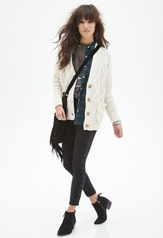 Cable Knit Cardigan - Shop All - 2000057862 - Forever 21 EU