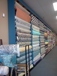 aisles and aisles of gorgeous fabric?! YES!! a crafter's dream come true @ Fabrics n' More on 2215 fm 1960, Houston TX 77090
