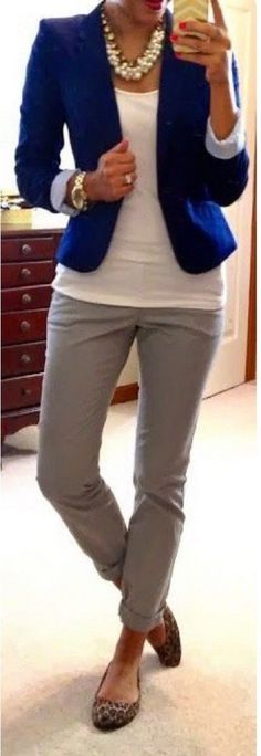Casual blazer outfit for women (51)