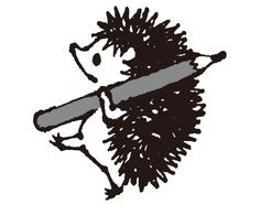 株式会社ブクログ キャラクターパブー Funny Drawings, Animal Drawings, Hedgehog Art, Mascot Design, Cute Icons, Book Design, Painting & Drawing, Line Art, Amazing Art