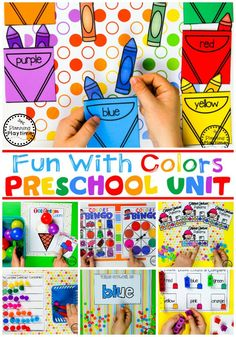 Color Worksheets Join our Email Group for Ideas, Freebies & Special Offers.Do you need fun color worksheets and centers for teaching preschool kids about col Preschool Color Theme, Color Worksheets For Preschool, Preschool Curriculum, Preschool Themes, Preschool Lessons, Preschool Art, Preschool Learning Centers, Color Activities For Toddlers, Preschool Binder
