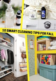 Summer is coming to an end, and that means that it's time to clean! Fall cleaning is just as useful as spring cleaning, and it will get your home prepared for the school year to come. Scrub down forgotten spots like the outdoor windowsills, make and use your own DIY cleaning wipes, organize your closet, and more.