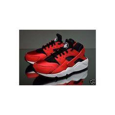 a650afc5c9d Nike Air Huarache Run Womens Running Shoes 634835-602 Red Black New.