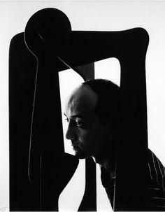 Isamu Noguchi, Japanese American Artist and Landscape Architect, 1947