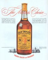 Old Taylor The Master's Chioce 1945 Ad Picture