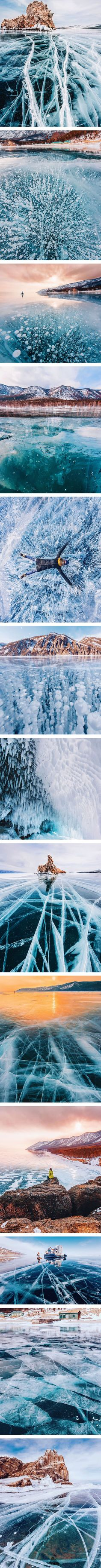 Photography walks on frozen Baikal, the deepest and oldest lake on earth and takes amazing photos - hobopeeba