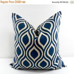 On Sale Indigo Pillow. Swirl Pillow cover. by TwistedBobbinDesigns