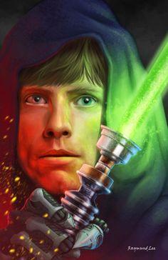 Luke - Raymund Lee Star Wars Film, Star Wars Fan Art, Star Trek, Star Wars Luke Skywalker, Anakin Skywalker, Aliens, Cyberpunk, Star Wars Canon, Images Star Wars