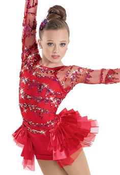 Jazz - Rhythm of the Night Weissman™ | Sequin Wave Satin Bustle Biketard