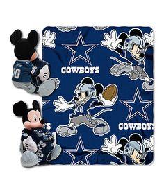 Love this Dallas Cowboys Mickey Mouse Fleece Throw & Pillow Set on #zulily! #zulilyfinds