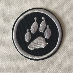 New to craftapplique on Etsy: Bear footprints patch Applique Embroidery patch sew on patch iron on patches Wholesale  (A46) (1.90 USD)