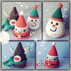 crochet tutorial for christmas ♥ Christmas Craft Fair, Crochet Christmas Decorations, Crochet Christmas Ornaments, Christmas Crochet Patterns, Xmas Decorations, Crochet Gifts, Crochet Toys, Amigurumi Patterns, Yarn Crafts