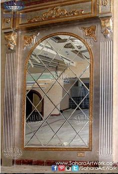 Diamond-shaped beveled mirrors will never disappoint you! Such a luxurious piece!
