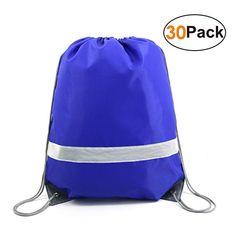 45d423da8242 Drawstring Backpack Bags Reflective Bulk Pack