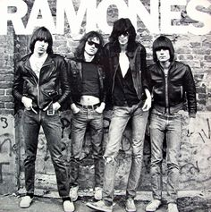 American punk rock group The Ramones. Left to right: Johnny Ramone - Tommy Ramone, Joey Ramone - and Dee Dee Ramone - Photo: Getty Images / RIP Tommy Ramones, Greatest Album Covers, Classic Album Covers, Joey Ramone, Punk Rock, Rock And Roll, The Clash, Vinyl Lp, Vinyl Records