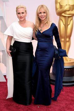 Oscars 2015 Red Carpet Arrivals   Patricia Arquette and Rosanna Arquette
