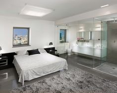 Bedroom Glass Shower Doors Design, Pictures, Remodel, Decor and Ideas