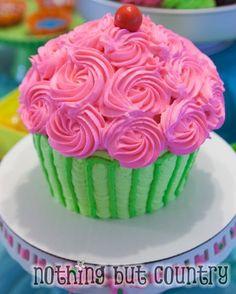 Cake at a Cupcake Wars Party #cupcakewars #partycake